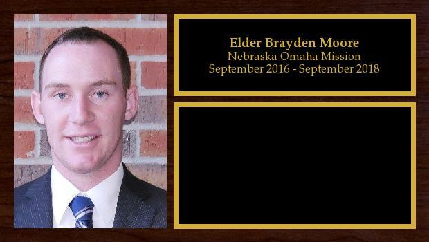 September 2016 to September 2018<br/>Elder Brayden Moore