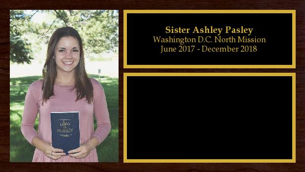 June 2017 to December 2018<br/>Sister Ashley Pasley