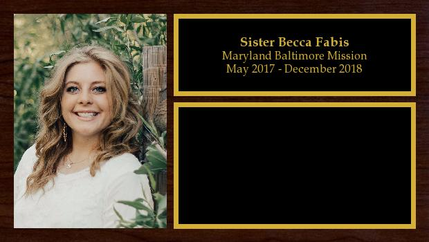 May 2017 to November 2018<br/>Sister Becca Fabis