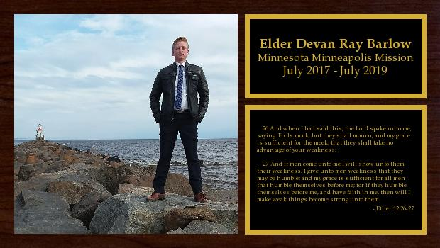 July 2017 to July 2019<br/>Elder Devan Ray Barlow