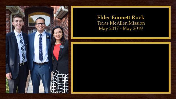 May 2017 to May 2019<br/>Elder Emmett Rock