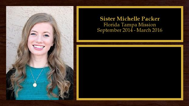 September 2014 to March 2016<br/>Sister Michelle Packer