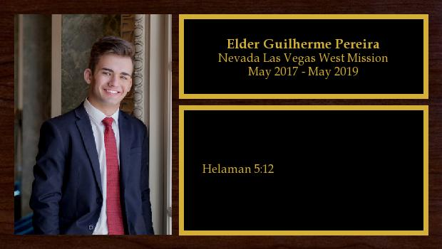 May 2017 to May 2019<br/>Elder Guilherme Pereira