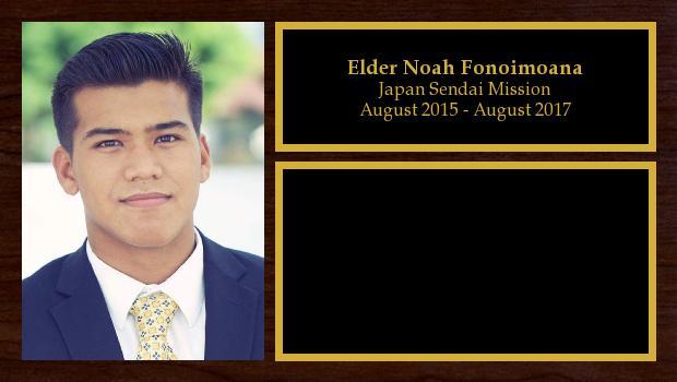 August 2015 to August 2017<br/>Elder Noah Fonoimoana