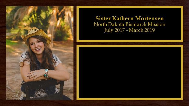 July 2017 to March 2019<br/>Sister Kathern Mortensen