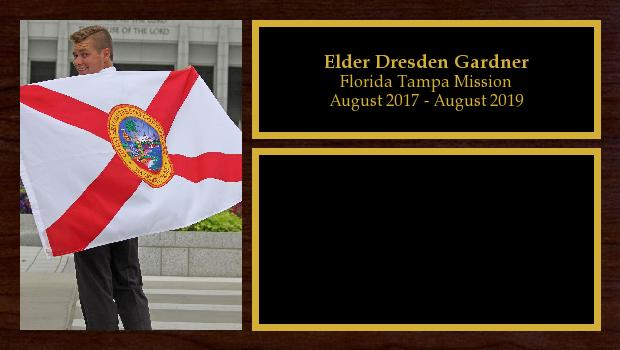 August 2017 to July 2019<br/>Elder Dresden Gardner
