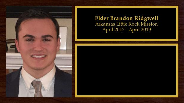 April 2017 to April 2019<br/>Elder Brandon Ridgwell