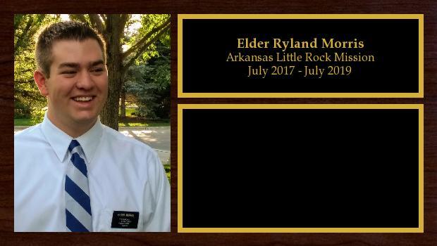 July 2017 to July 2019<br/>Elder Ryland Morris
