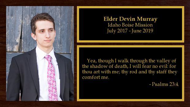 July 2017 to June 2019<br/>Elder Devin Murray