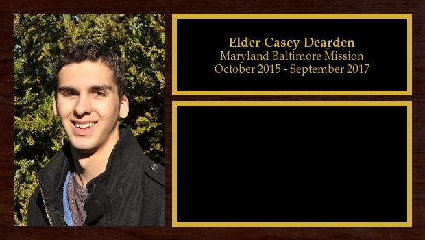 October 2015 to October 2017<br/>Elder Casey Dearden
