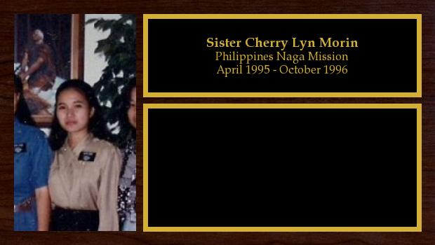 April 1995 to October 1996<br/>Sister Cherry Lyn Morin