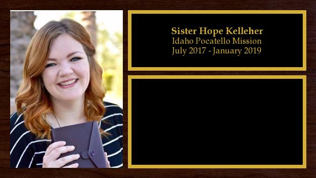 July 2017 to January 2019<br/>Sister Hope Kelleher