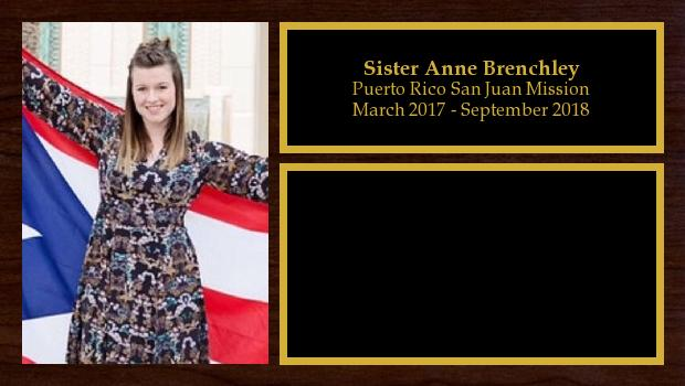 March 2017 to September 2018<br/>Sister Anne Brenchley
