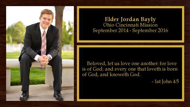 September 2014 to September 2016<br/>Elder Jordan Bayly