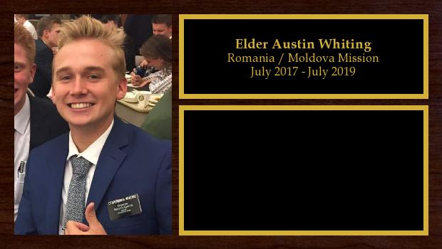 July 2017 to July 2019<br/>Elder Austin Whiting