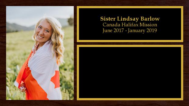 June 2017 to January 2019<br/>Sister Lindsay Barlow