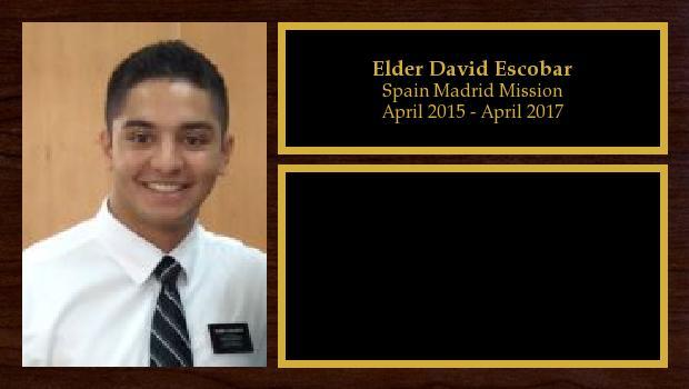 April 2015 to April 2017<br/>Elder David Escobar