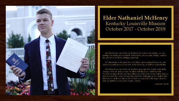 October 2017 to October 2019<br/>Elder Nathaniel McHenry