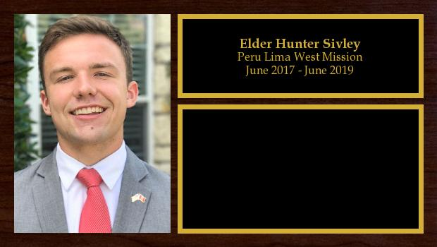 June 2017 to April 2019<br/>Elder Hunter Sivley