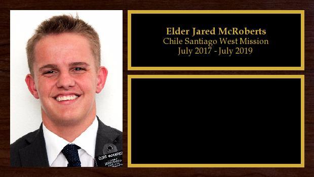 July 2017 to June 2019<br/>Elder Jared McRoberts