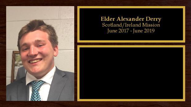 June 2017 to June 2019<br/>Elder Alexander Derry
