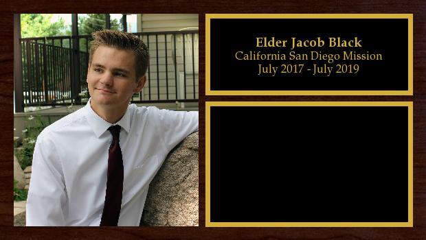July 2017 to July 2019<br/>Elder Jacob Black