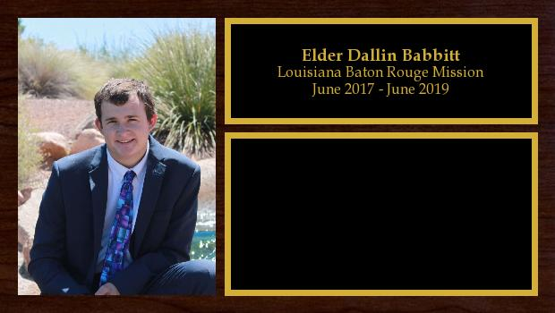 June 2017 to June 2019<br/>Elder Dallin Babbitt