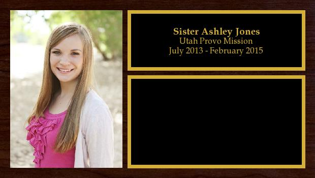 July 2013 to February 2015<br/>Sister Ashley Jones