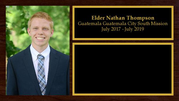 July 2017 to July 2019<br/>Elder Nathan Thompson