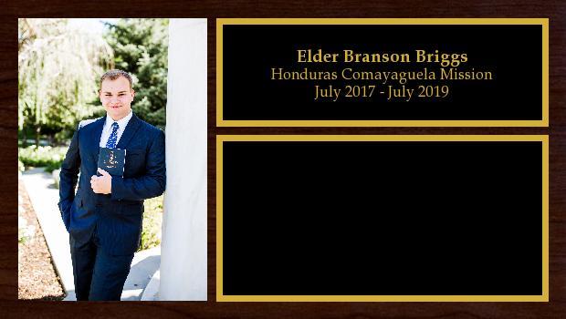 July 2017 to July 2019<br/>Elder Branson Briggs