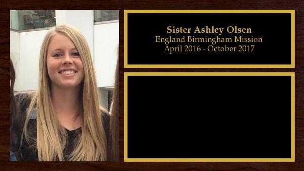 April 2016 to October 2017<br/>Sister Ashley Olsen