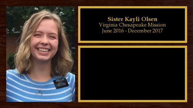 June 2016 to December 2017<br/>Sister Kayli Olsen