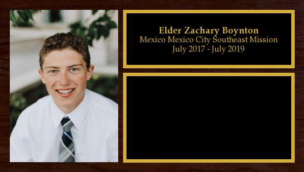 July 2017 to June 2019<br/>Elder Zachary Boynton