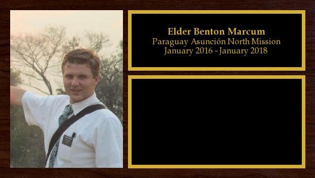 January 2016 to January 2018<br/>Elder Benton Marcum