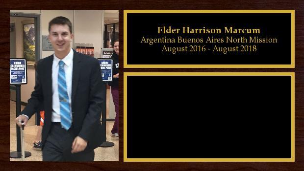 August 2016 to August 2018<br/>Elder Harrison Marcum
