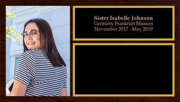 November 2017 to May 2019<br/>Sister Isabelle Johnson