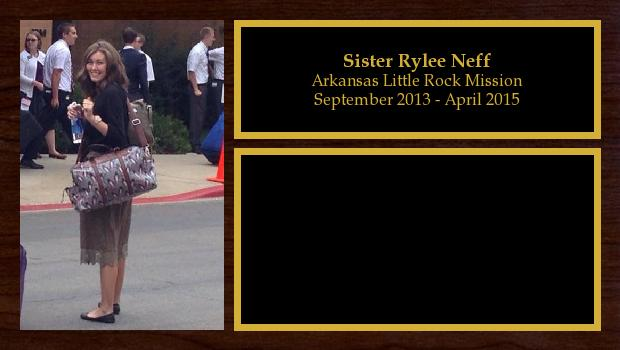September 2013 to April 2015<br/>Sister Rylee Neff