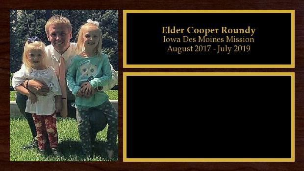 August 2017 to July 2019<br/>Elder Cooper Roundy