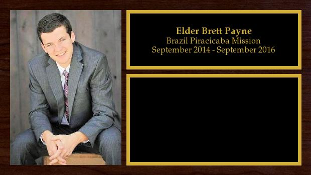 September 2014 to September 2016<br/>Elder Brett Payne