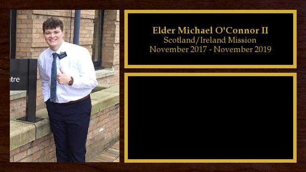 November 2017 to November 2019<br/>Elder Michael O'Connor II