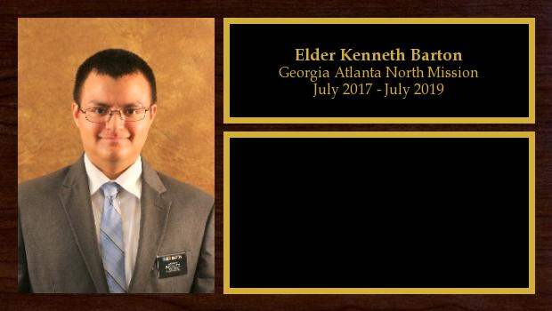 July 2017 to July 2019<br/>Elder Kenneth Barton