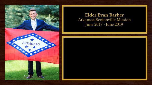 June 2017 to June 2019<br/>Elder Evan Barber