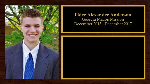 December 2015 to December 2017<br/>Elder Alexander Anderson