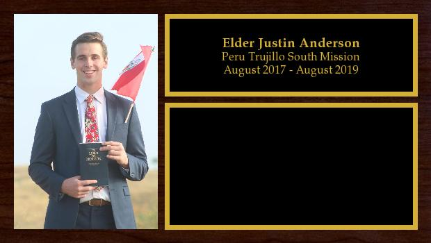 August 2017 to July 2019<br/>Elder Justin Anderson