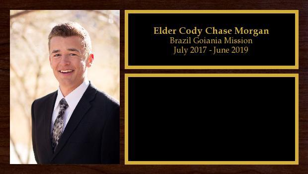 July 2017 to June 2019<br/>Elder Cody Chase Morgan