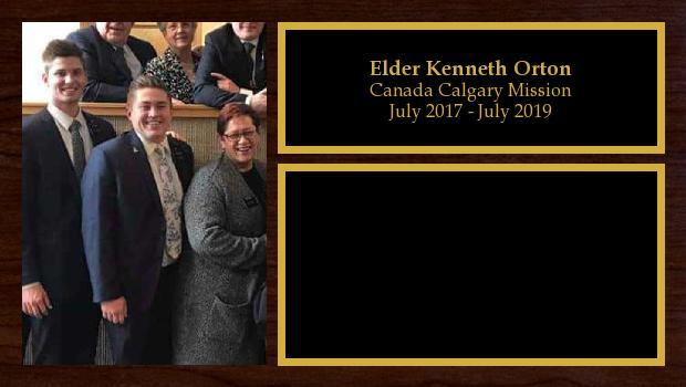 July 2017 to July 2019<br/>Elder Kenneth Orton