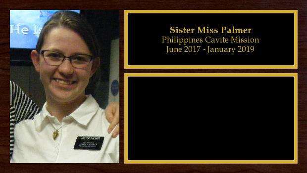 June 2017 to January 2019<br/>Sister Miss Palmer