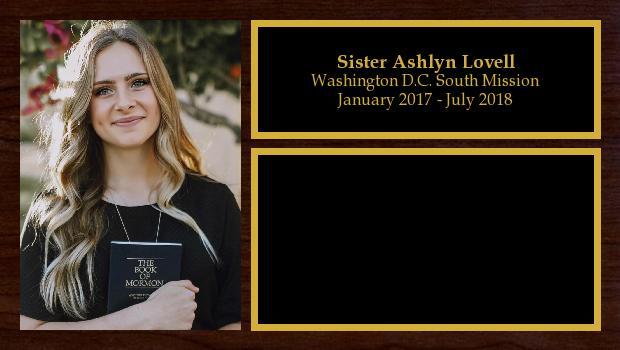 January 2017 to July 2018<br/>Sister Ashlyn Lovell