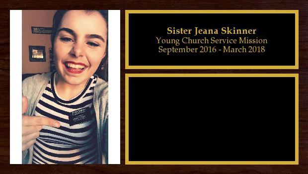 September 2016 to March 2018<br/>Sister Jeana Skinner