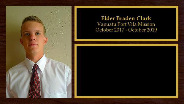 October 2017 to October 2019<br/>Elder Braden Clark